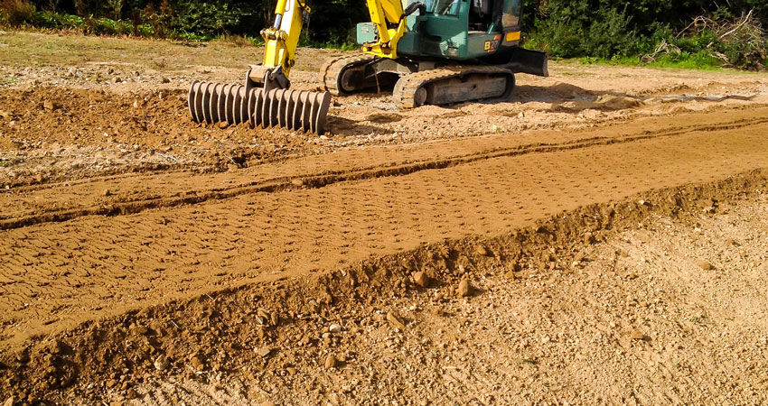 Site Preparation for Lawn Layout & Seeding at Private Residence