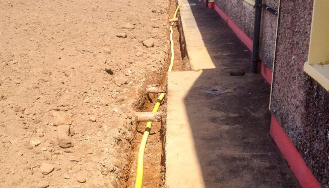 Land Drainage at Co. Cork School