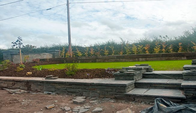 Front Garden Bedding and Lawn under construction - Private Residence Waterfall 2